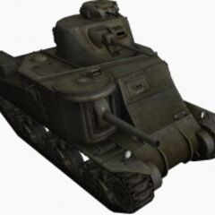 A front right view of a M3 Lee
