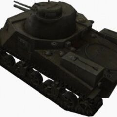 A rear left view of a M3 Lee