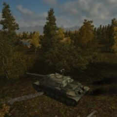 A IS-7 on a Malinovka map
