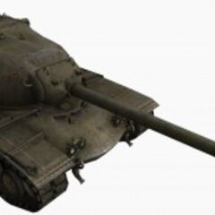 A front right view of a M103