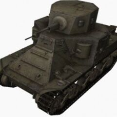 A front left view of a M2 Medium Tank