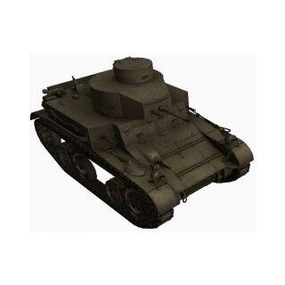 A front right view of a M2 Light Tank