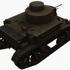 A rear right view of a M2 Light Tank