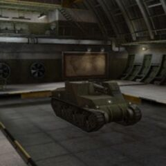 A front right view of a T40 in a garage