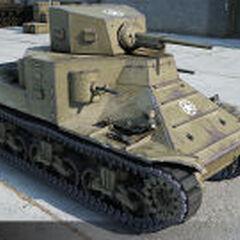 A view of a M2 Medium Tank