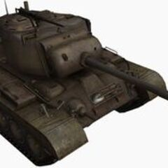 A front right view of a M46 Patton