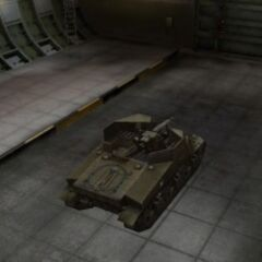 A rear right view of a T40 in a garage