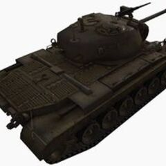 A rear right view of a M46 Patton