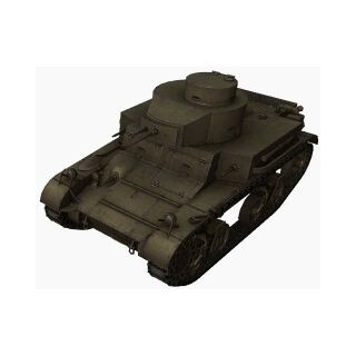 A front left view of a M2 Light Tank