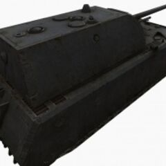 A rear right view of a Maus