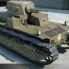 A view of a T2 Medium Tank