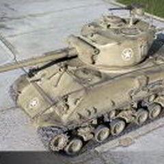 A view of a M4A3E8 Sherman
