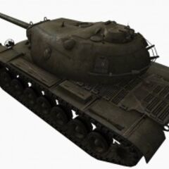 A rear left view of a M103