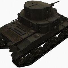 A rear right view of a M2 Medium Tank