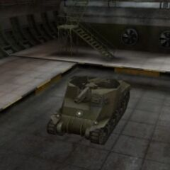 A front left view of a T40 in a garage