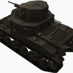 A rear left view of a M2 Medium Tank
