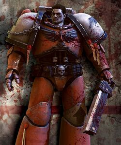 Blood Raven Marine Bloodied