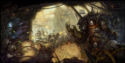 Warmaster Horus on Bridge