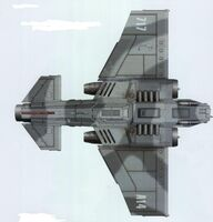Thunderbolt Heavy Fighter Dorsal View