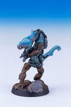Saharduin Piscean Warrior 1st Edition miniature