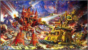 Imperator Titan vs Ork Mega-Gargant