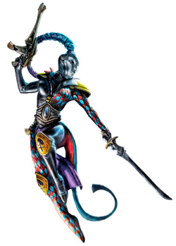 Female Harlequin Player Midnight Sorrow