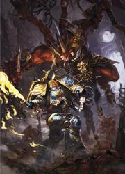 Робаут Жиллиман в бою против Скарбранда