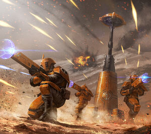 Tau, fire wariors, art