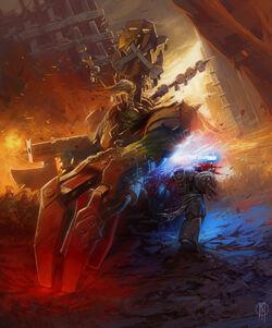 Ork Warboss vs. Hospitalers Space Marine