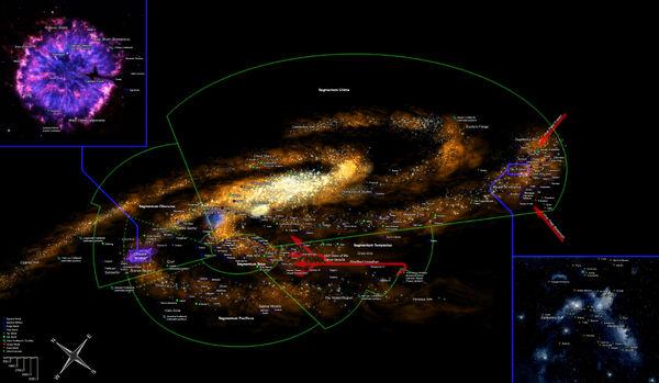 Galactic map