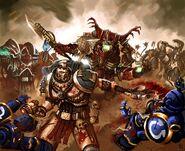 Раум и Кхарн сражаются против Ультрамаринов