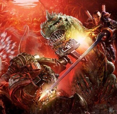 File:Dragon Warrior vs. Space Marine.jpg