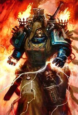 Dark angels warhammer 40k fandom powered by wikia dark angels librarian summoning forth his psychic abilities fandeluxe Choice Image