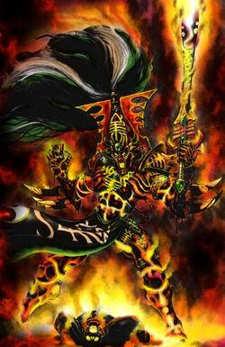Avatar of Khaine battle