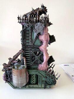 127109-Daemon Engine, Nurgle, Plague Tower, Super-heavy, Work In Progress