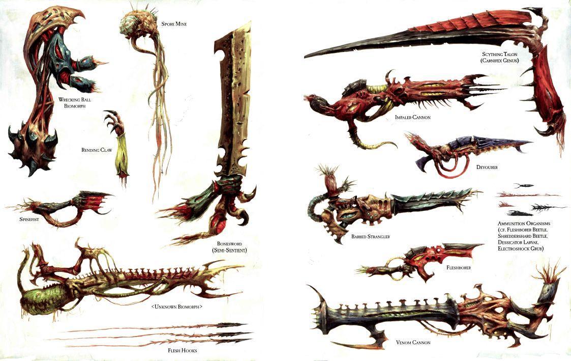 Tyranid Biomorphs   Warhammer 40k Wiki   Fandom
