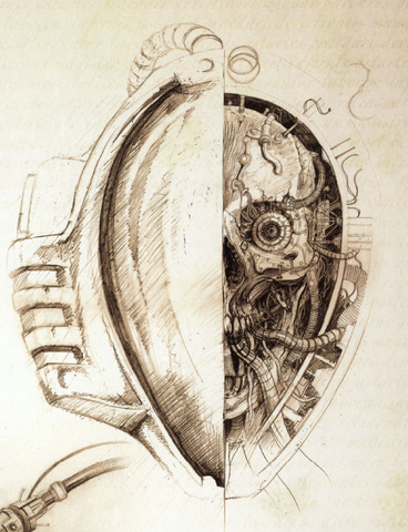 File:Mechanicum Thallax sketch head.png