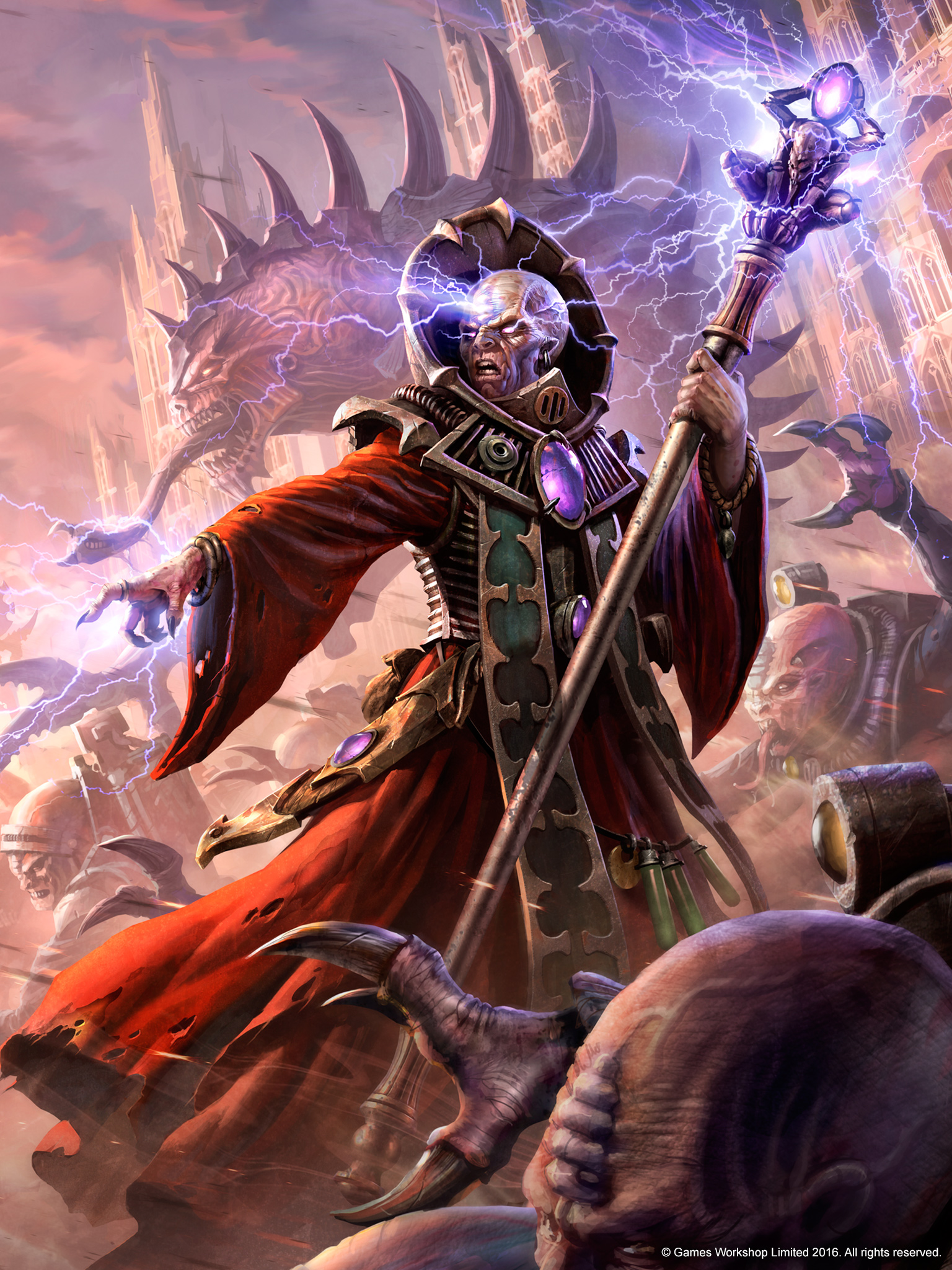 Genestealer cult warhammer 40k fandom powered by wikia a magus of a genestealer cult uses his psychic powers to direct his kin during a rebellion buycottarizona Choice Image