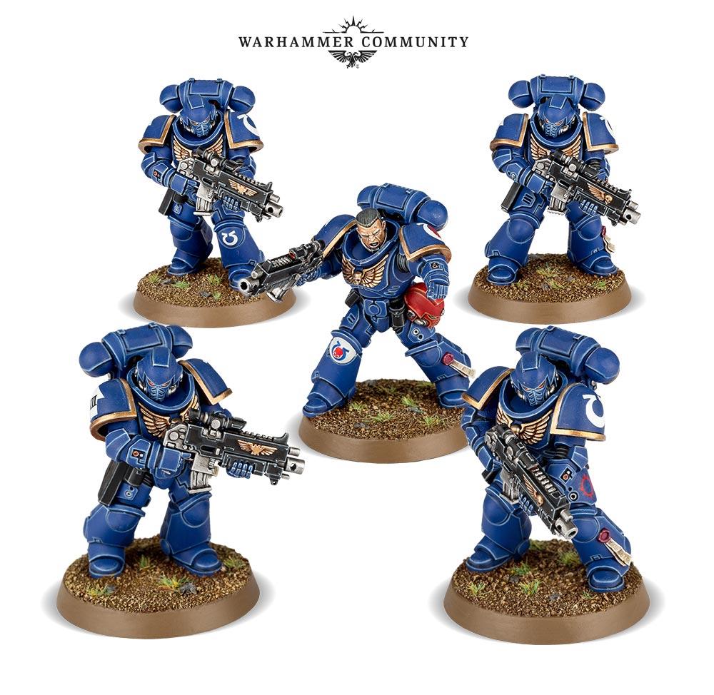 Warhammer 40K Space Marines Primaris Intercessors Combat Squad Adeptus Astartes