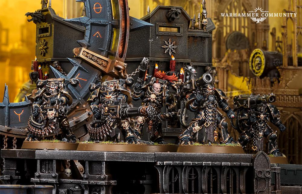 40K Havoc Aspiring Champion Plasma Gun Meltagun Flamer Chaos Marines Warhammer