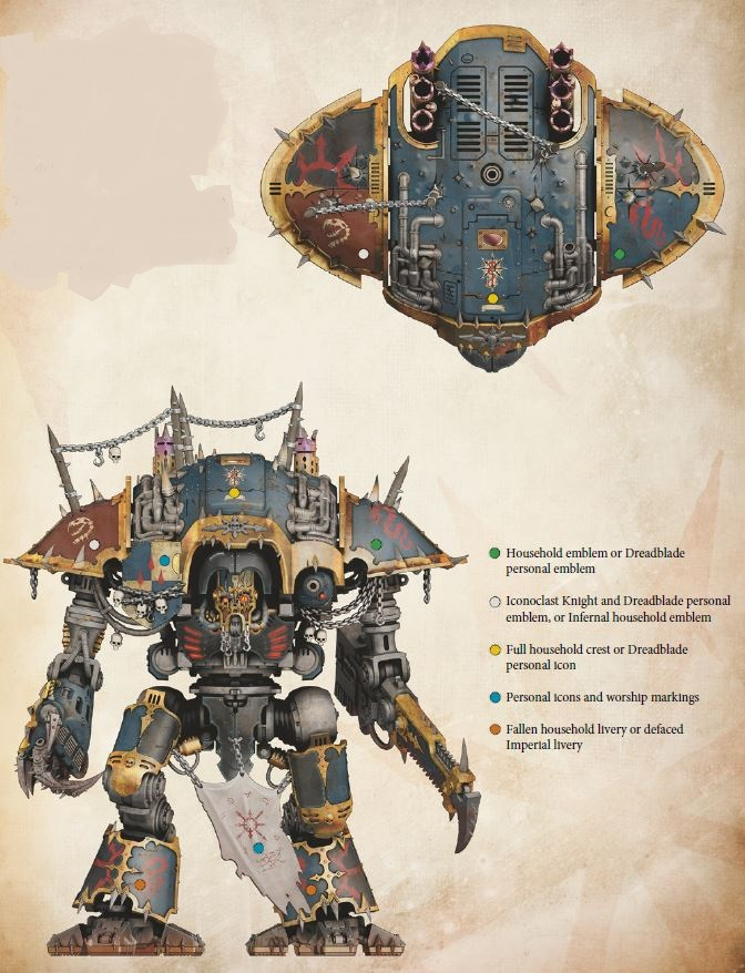 Chaos Imperial Knight Reaper chainsword Desecrator Rampager