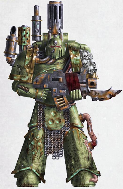 WH40K Chaos Space Marine Death Guard PLAGUEBURST CRAWLER Nurgle Bombard Tank