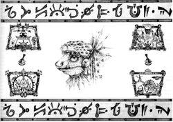 Slann Hieroglyphs Sketch