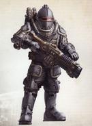 Veletaris of the 905th Solar Auxilia Cohort (the Ash Scorpions)