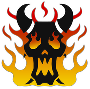 Word Bearers Emblem by steel serpent