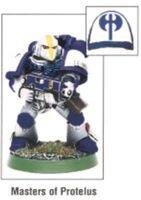 Tactical Marine Masters of Protelus Corvus Power Armour miniature