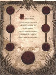 Указ об осуждении Магнуса и Тысячи Сынов