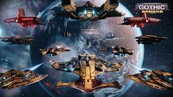 Kor'vattra T'au Navy Fleet 1