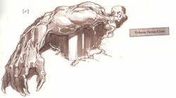 Viskeon foetus-limb Xenology illustration