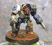 Novamarine terminator bone armour test model front